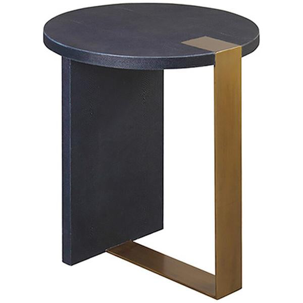 Worlds Away Round Side Table in Antique Brass