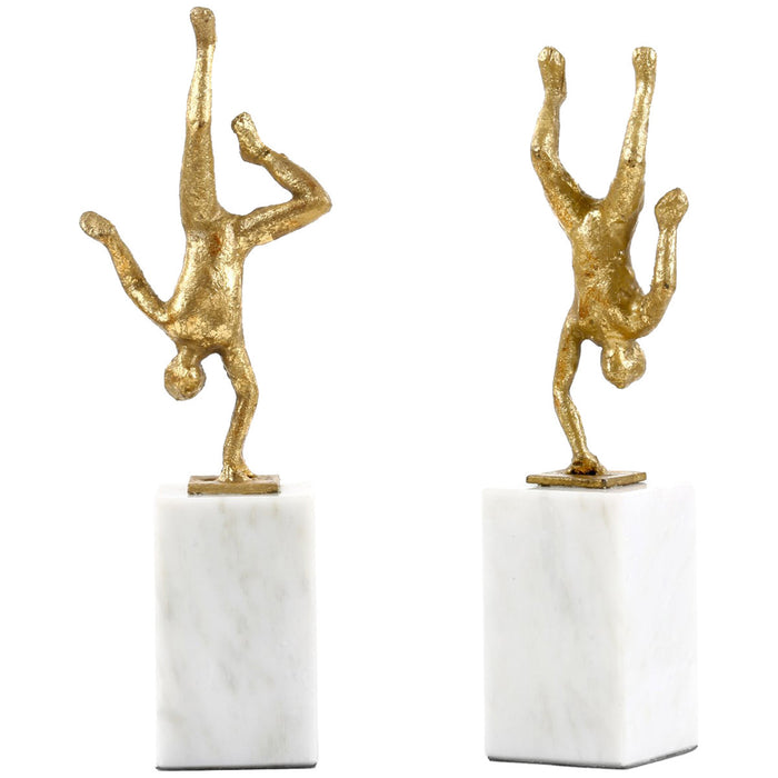 Bungalow 5 Gold Handstand Statue Pair