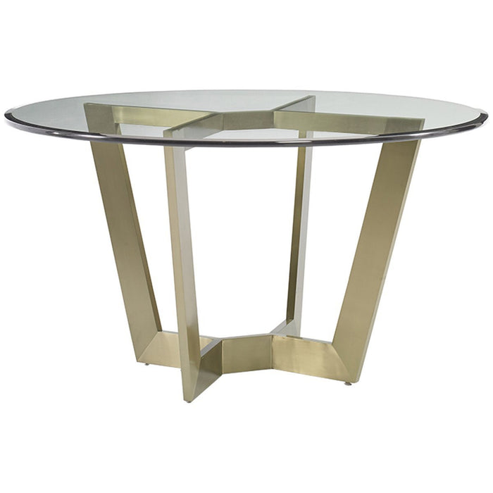 Hickory White Marc Metal Dining Table