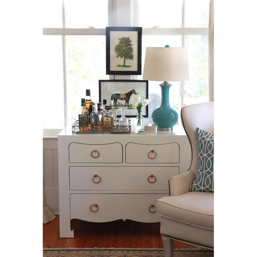 Jacqui Large 4-Drawer Chest in White