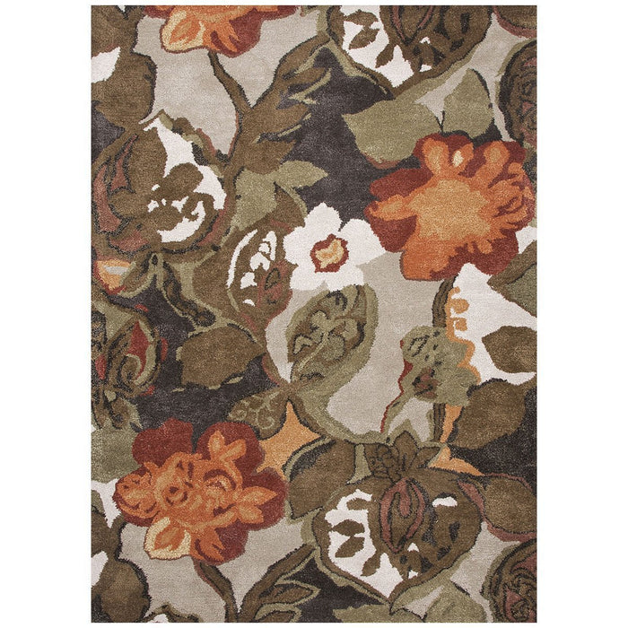 Jaipur Blue Petal Pusher Mahogany BL12 Area Rug