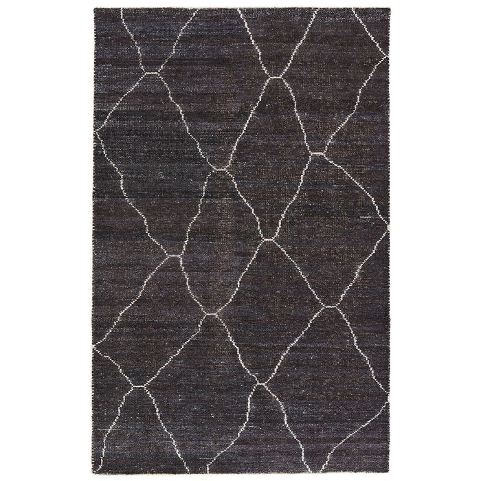 Jaipur Black White Rayon Cotton SAT05 Rug