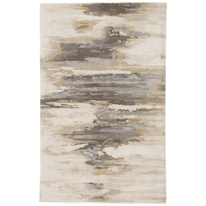 Jaipur Genesis Ryenn Abstract GES07 Cream/Gold Area Rug