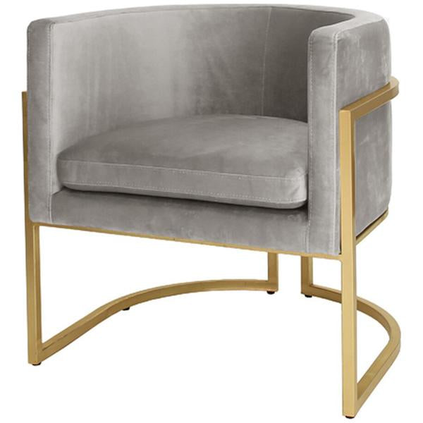 Worlds Away Gold Leaf Frame Arm Chair