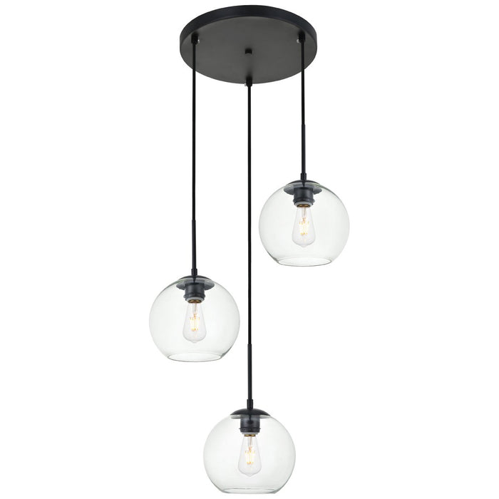Elegant Lighting Baxter 3-Light 18.1-Inch Pendant