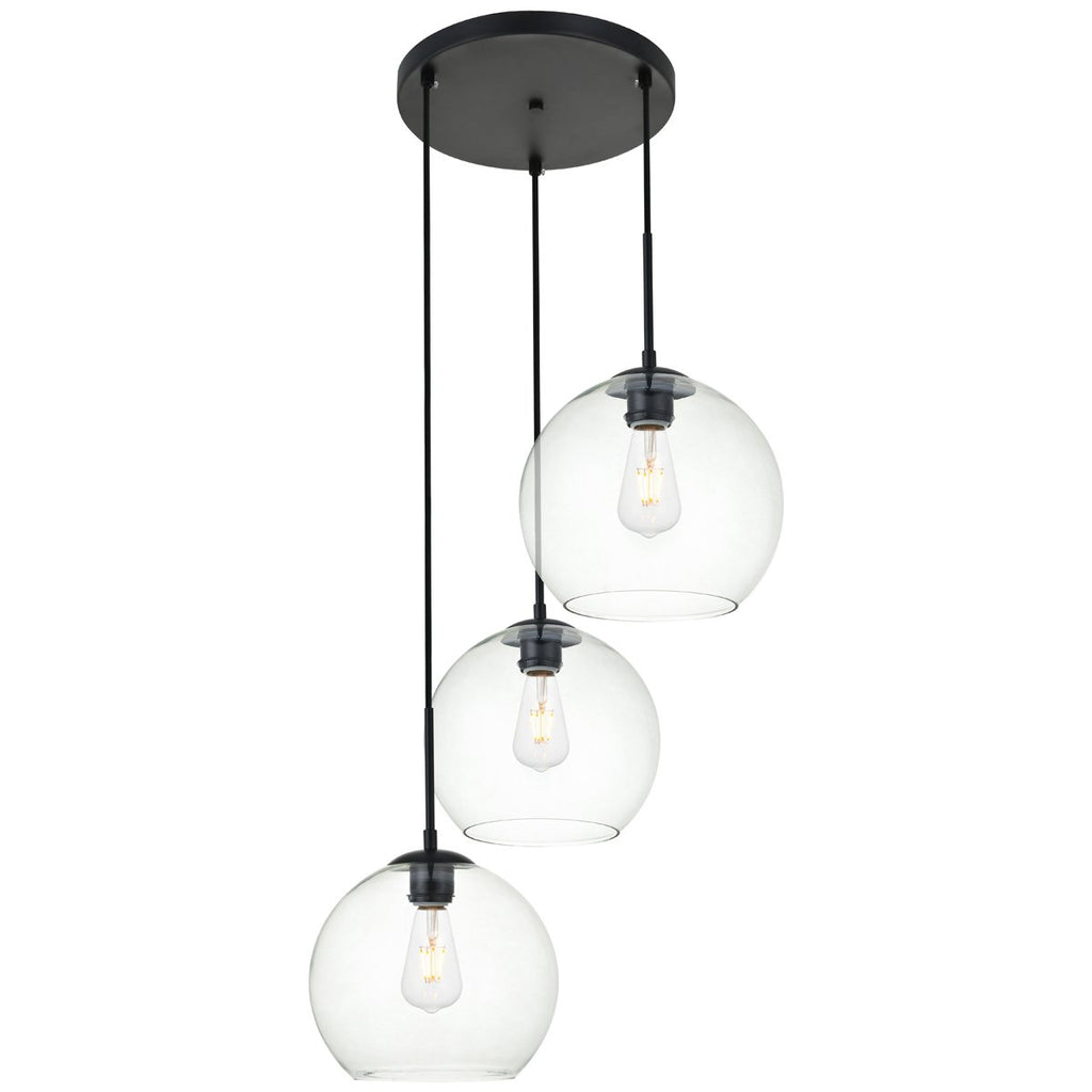 Elegant Lighting Baxter 3-Light 20.1-Inch Pendant