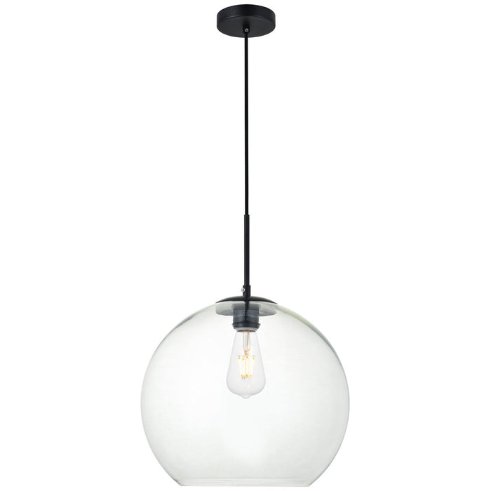 Elegant Lighting Baxter 1-Light 13.8-Inch Pendant