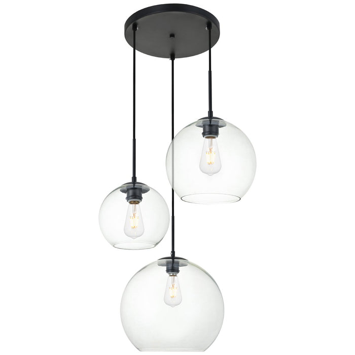 Elegant Lighting Baxter 3-Light 20.9-Inch Pendant