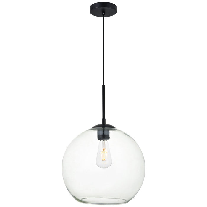 Elegant Lighting Baxter 1-Light 11.8-Inch Pendant with Clear Glass