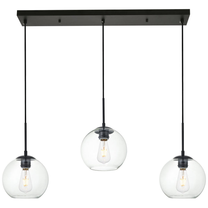 Elegant Lighting Baxter 3-Light 36-Inch Pendant