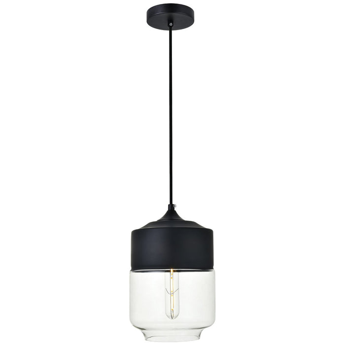 Elegant Lighting Ashwell 1-Light 7.1-Inch Pendant with Clear Glass