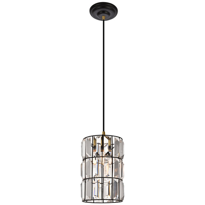 Elegant Lighting Blair Pendant in Oil Rubbed Bronze