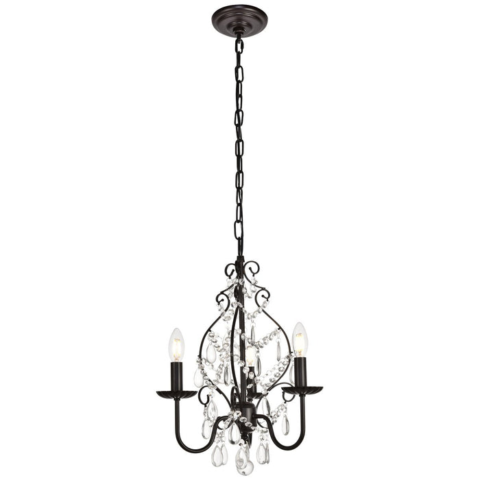 Elegant Lighting Blaise 15-Inch Pendant in Oil Rubbed Bronze