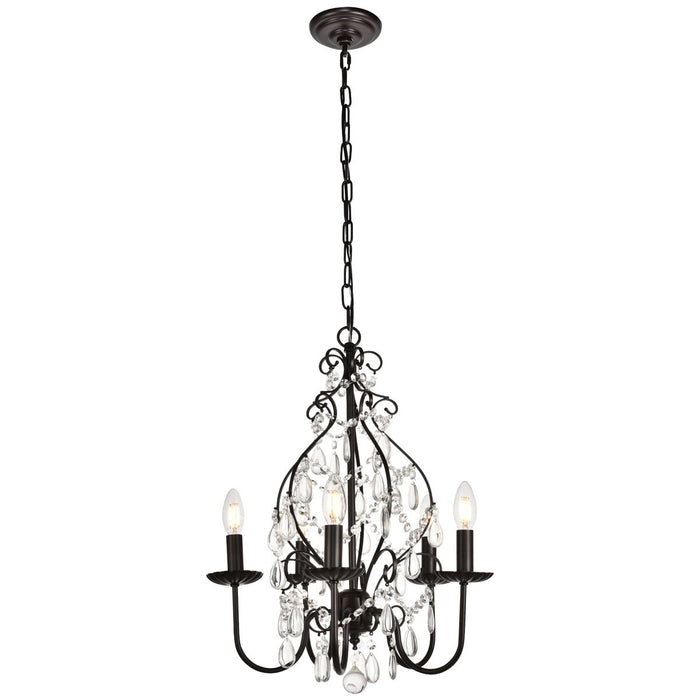 Elegant Lighting Blaise 17-Inch Pendant in Oil Rubbed Bronze