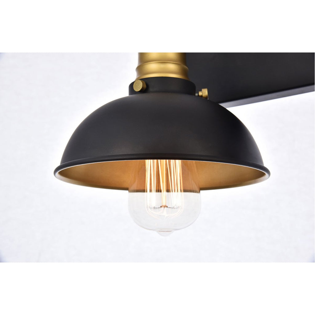 Elegant Lighting Anders Wall Sconce Black and Brass