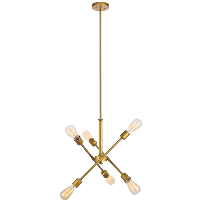 Elegant Lighting Axel 6-Light 17.1-Inch Pendant