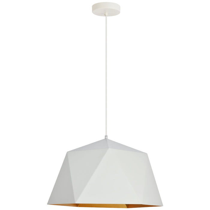 Elegant Lighting Arden 17.7-Inch Pendant in Frosted White and Gold