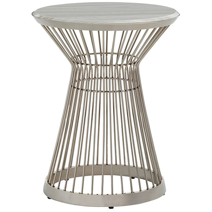 Lexington Ariana Martini Stainless Accent Table