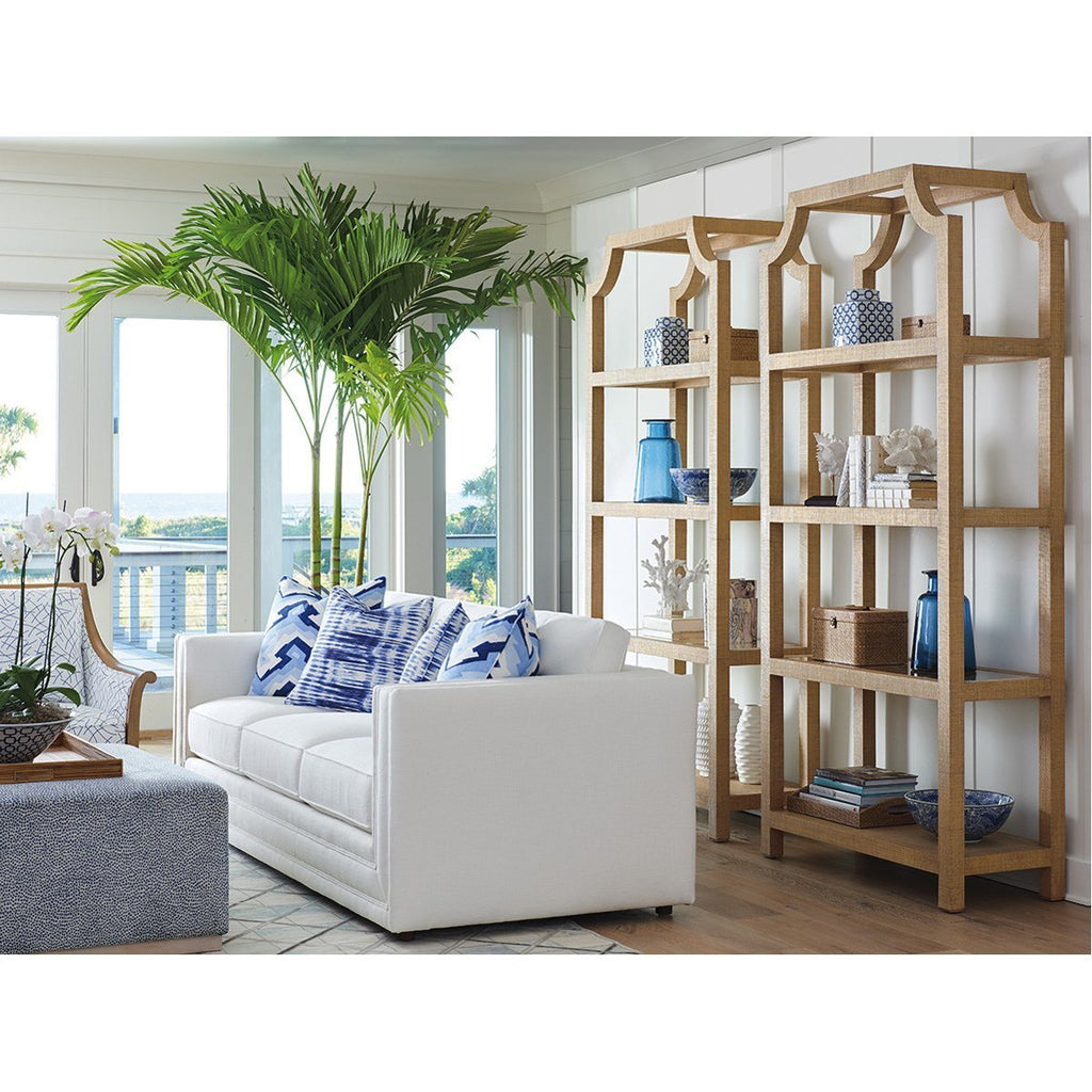 Lexington Barclay Butera Newport Beachcomber Raffia Etagere