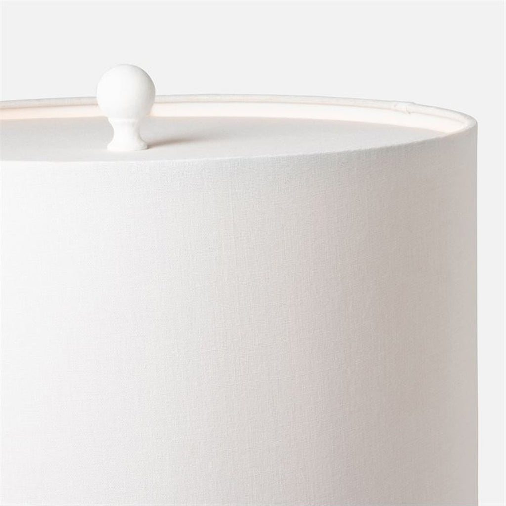 Made Goods Bethany Textured White Resin Table Lamp