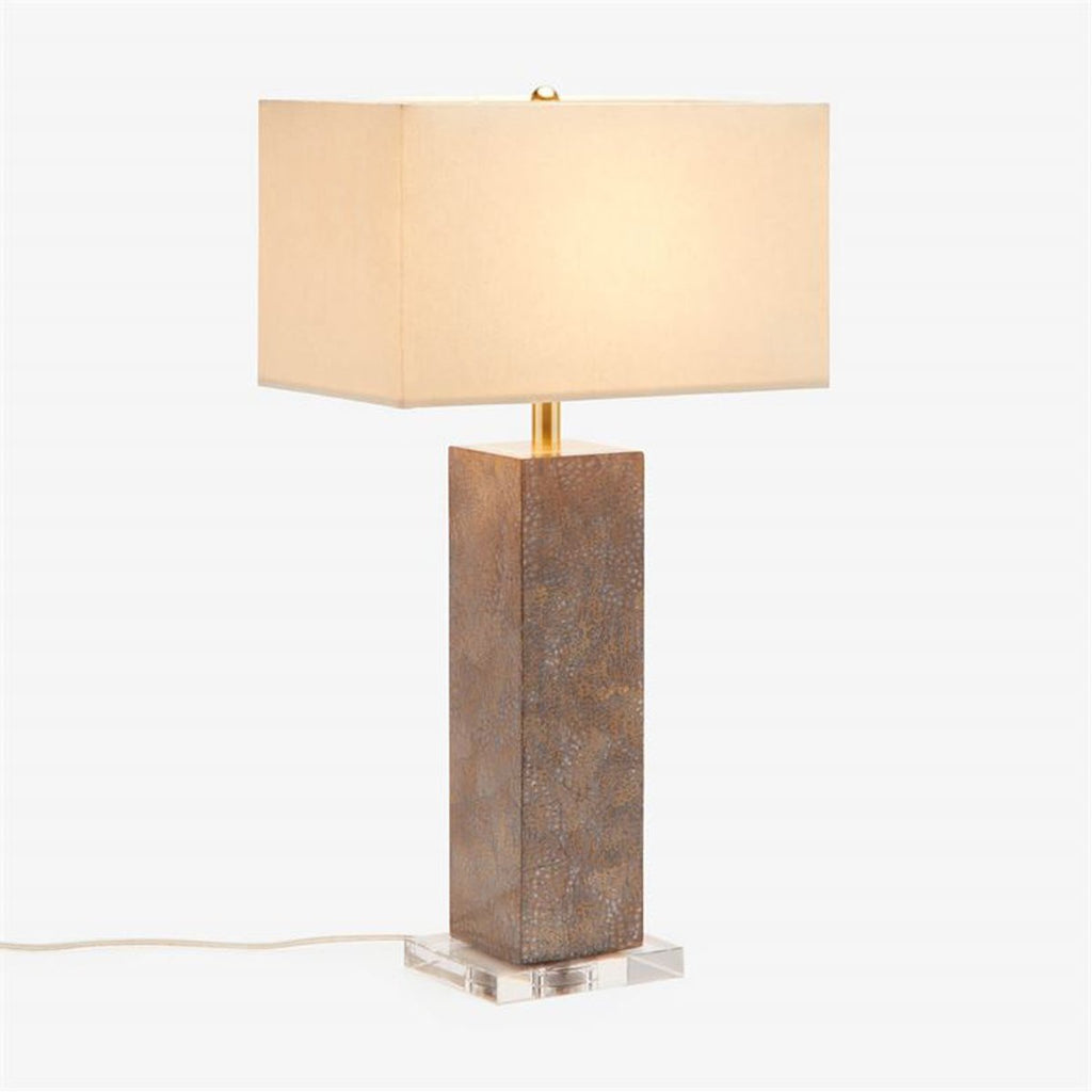 Made Goods Della Snakeskin Patterned Table Lamp