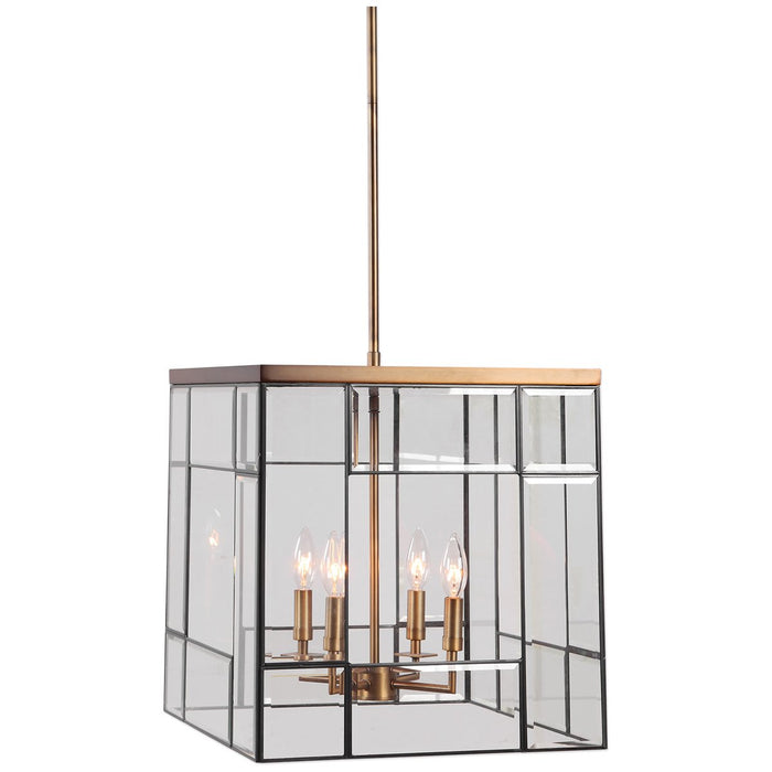 Uttermost Romilly 4-Light Antique Brass Pendant