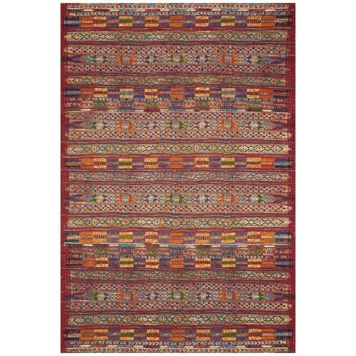 Loloi Mika MIK-09 Red Multi Power Loomed Rug