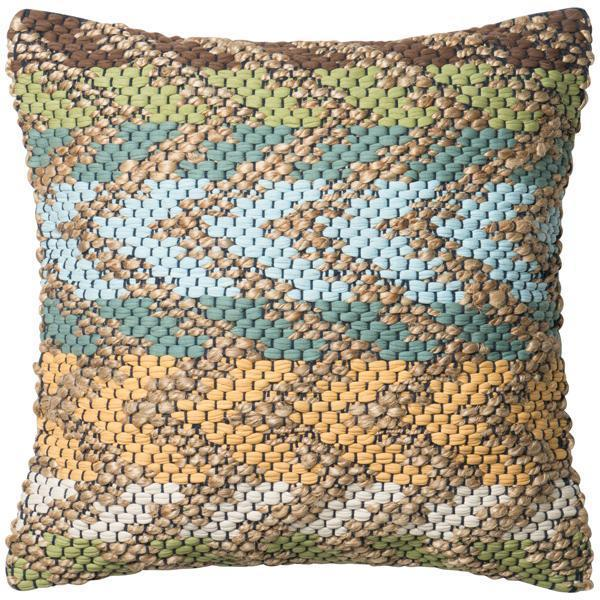 "Loloi P0330 Dhurri Style 22"" x 22"" Pillows Set of 2"