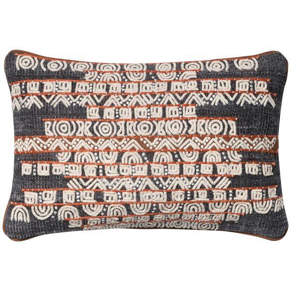 "Loloi P0378 Woven Front 13"" x 21"" Pillows Set of 2"