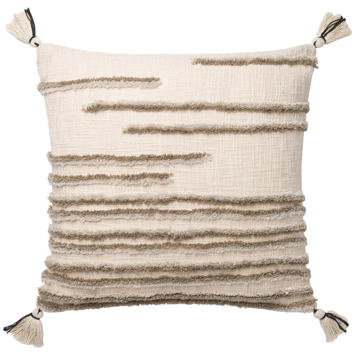 "Loloi P0832 Natural Stone 22"" x 22"" Pillows Set of 2"