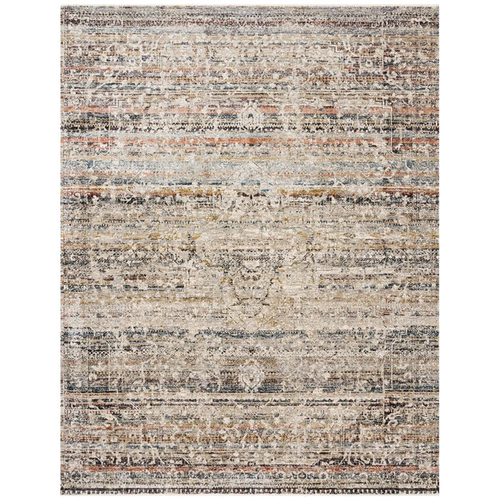 Loloi Theia THE-03 Taupe Multi Power Loomed Rug
