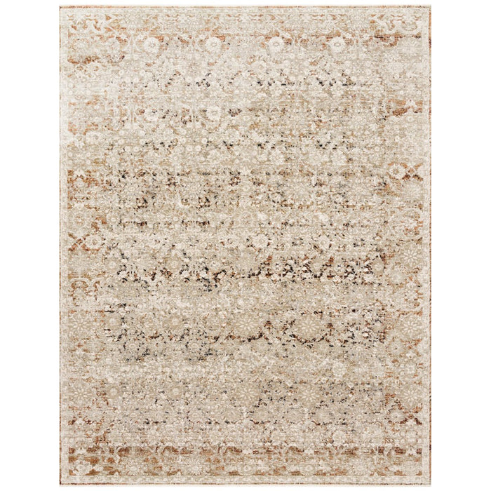 Loloi Theia THE-07 Natural Rust Power Loomed Rug
