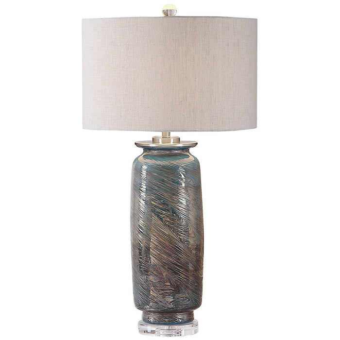 Uttermost Olesya Swirl Glass Table Lamp