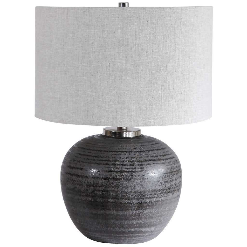 Uttermost Mikkel Charcoal Table Lamp