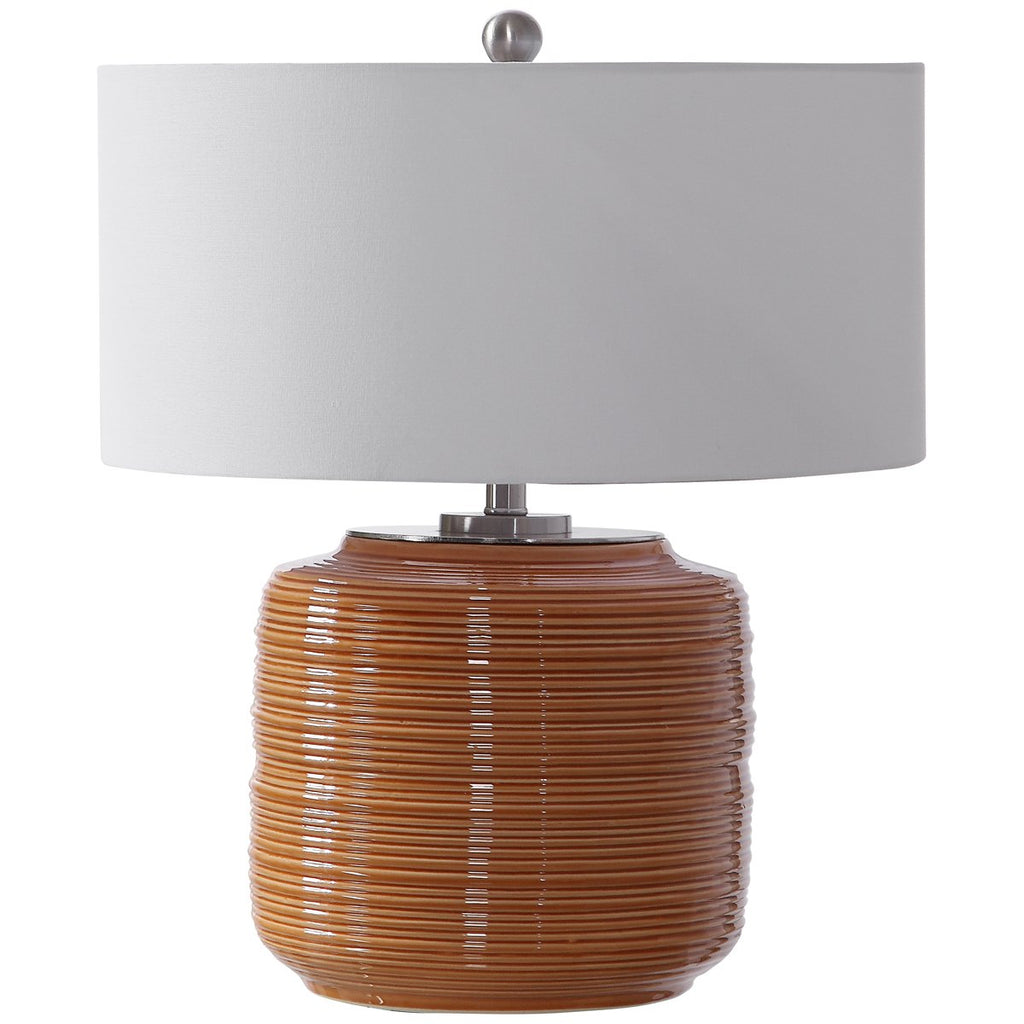 Uttermost Solene Orange Table Lamp