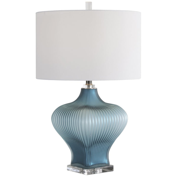 Uttermost Marjorie Frosted Turquoise Table Lamp