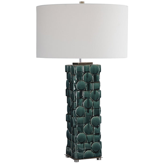 Uttermost Geometry Green Table Lamp
