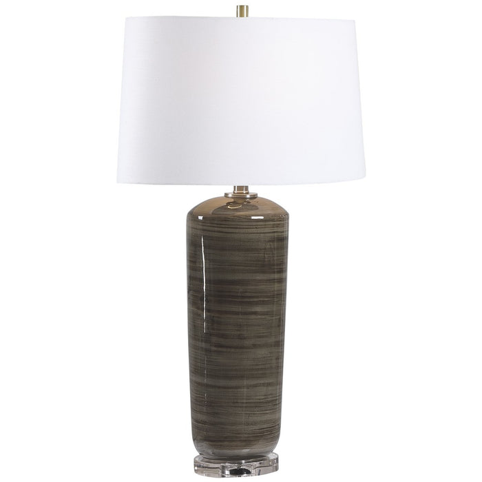 Uttermost Ebon Charcoal Table Lamp