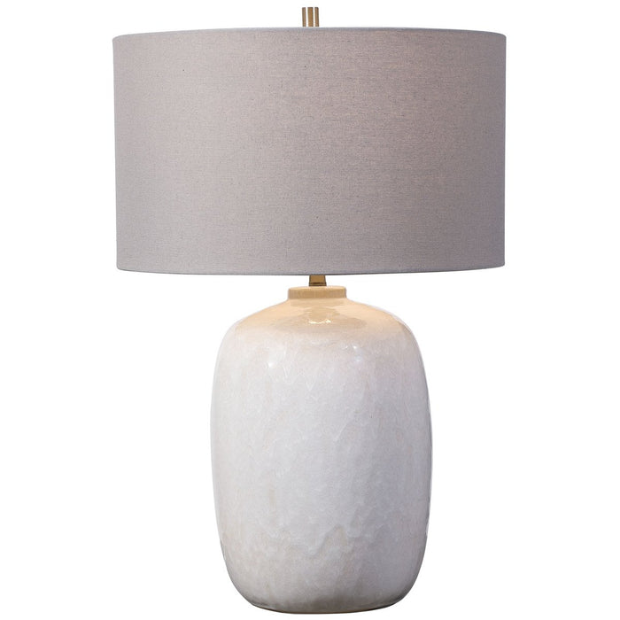 Uttermost Winterscape White Glaze Table Lamp