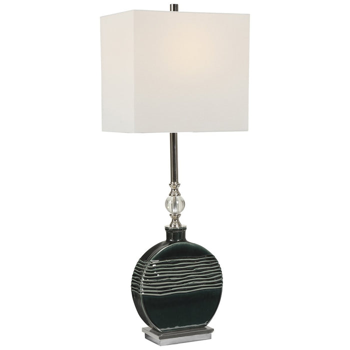 Uttermost Recina Dark Teal Buffet Lamp