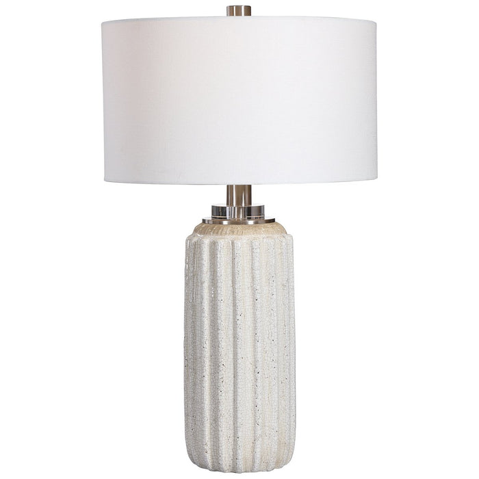 Uttermost Azariah White Crackle Table Lamp