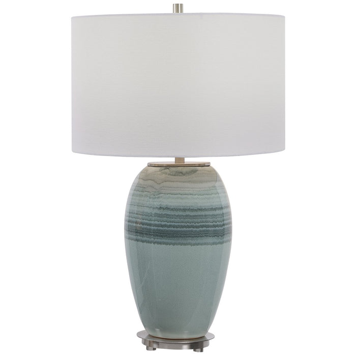 Uttermost Caicos Teal Table Lamp