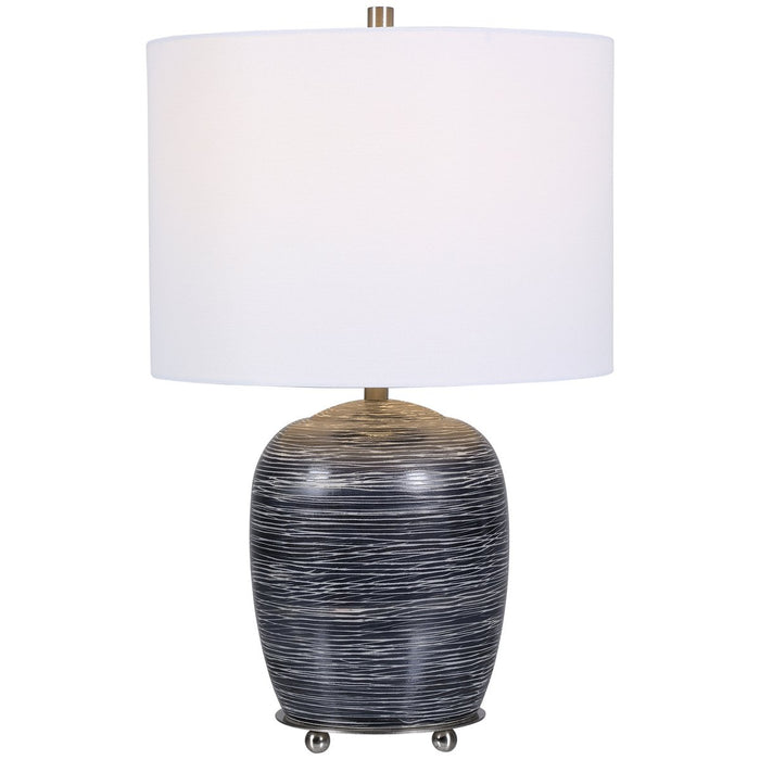 Uttermost Transpose Satin Black Table Lamp