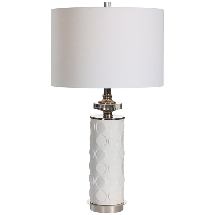 Uttermost Calia White Table Lamp