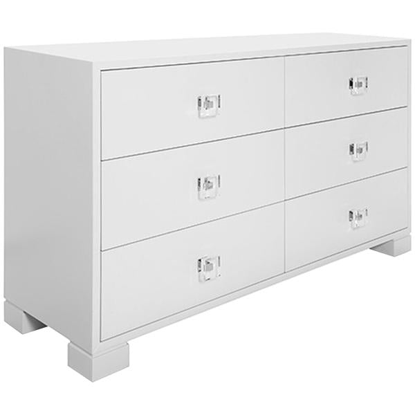Worlds Away 6-Drawer Acrylic Hardware Chest