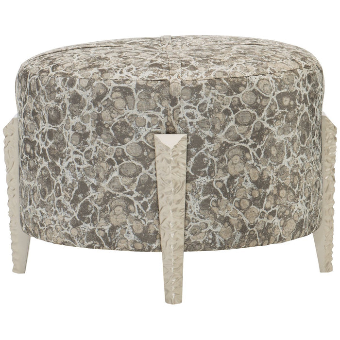 Caracole Upholstery Chiseled Ottoman