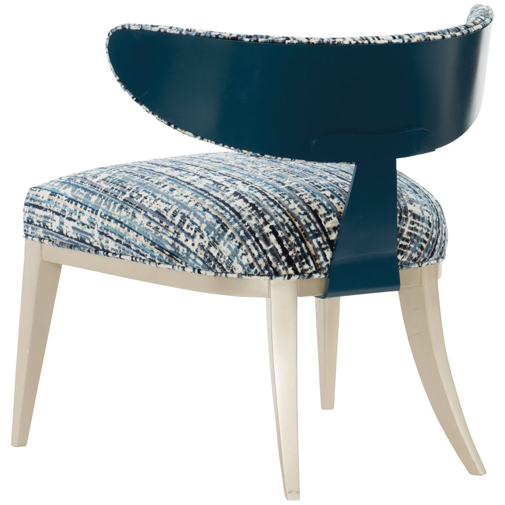Caracole Half Moon Chair - Soft Radiance, Cerulean