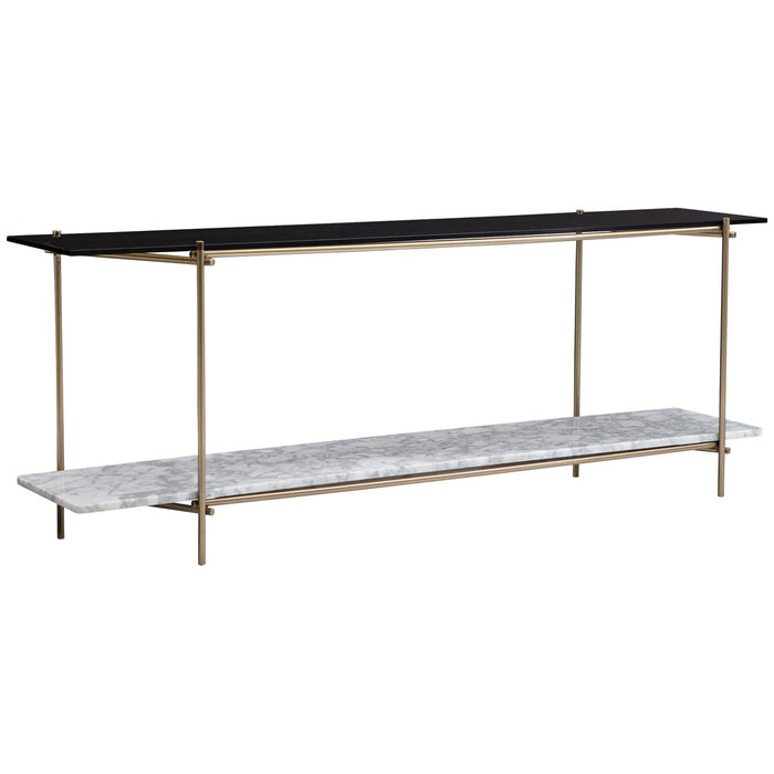 Caracole Modern Edge Concentric Console Table