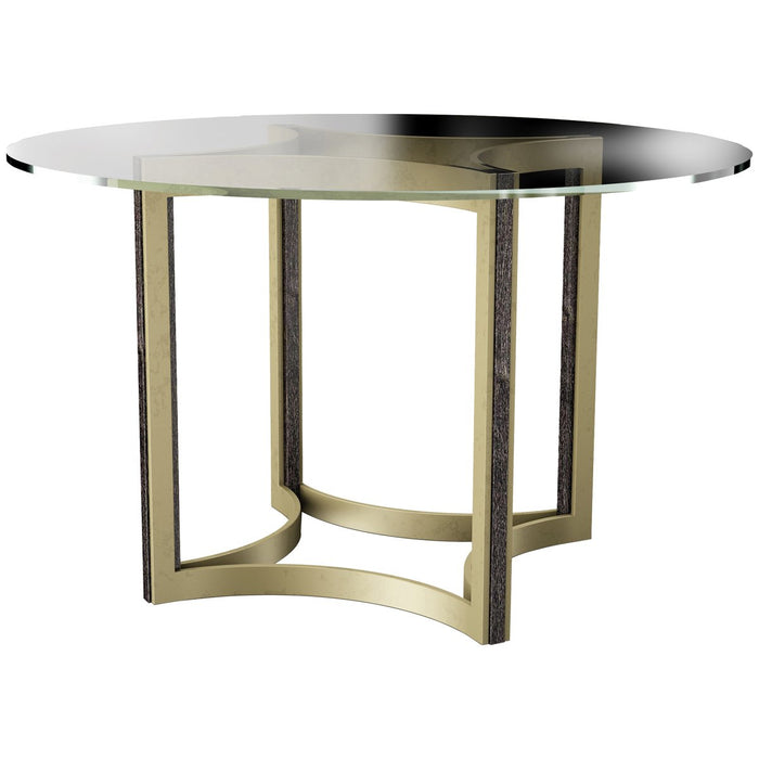 Caracole Modern Artisan Remix Glass Top 48-Inch Table