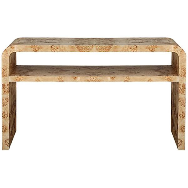 Worlds Away Waterfall Edge 2-Tier Console Table